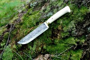 Узбекский нож ручной ковки из стали 9ХС - Русский булат