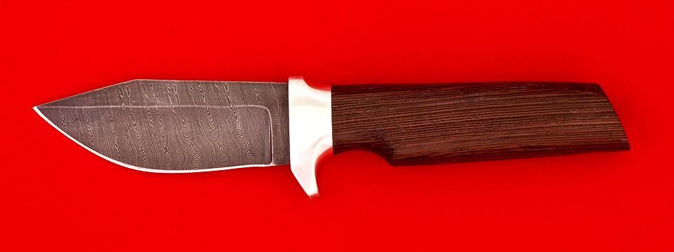 """Нож """"Байкер"""", клинок дамасская сталь, рукоять венге"""