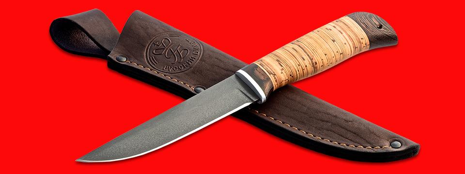 """Нож """"Фартовый"""", клинок сталь Х12МФ, рукоять береста, с отверстием под темляк (ремешок)"""
