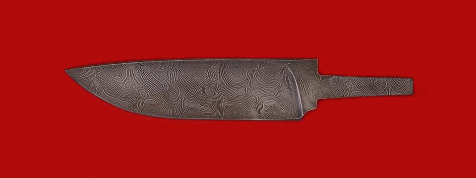 """Клинок для ножа """"Панда"""", дамасская сталь"""