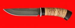 """Охотничий нож """"Браконьер"""", клинок сталь Х12МФ, рукоять береста"""