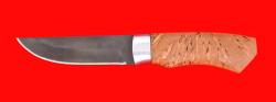 """Охотничий нож """"Бурундук"""", клинок сталь Х12МФ, рукоять карельская берёза"""