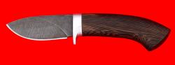 """Охотничий нож """"Лось"""", клинок дамасская сталь, рукоять венге"""