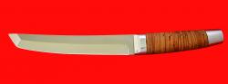 "Нож ""Самурай большой"", клинок сталь 65Х13, рукоять береста"