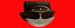 """Нож """"Улу"""", цельнометаллический, клинок дамасская сталь, рукоять венге"""